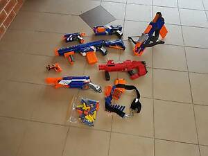 COLLECTION OF NERF GUNS +BULLETS Lidcombe Auburn Area Preview