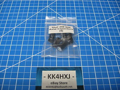 Sc - Gha Series - Axial Electrolytic Capacitors - 450v 10uf - 5 Pieces