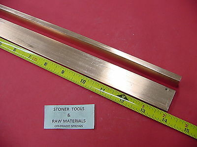 2 Pieces 14x 1 C110 Copper Bar 14 Long Solid Flat Bar Mill Bus Bar Stock H02
