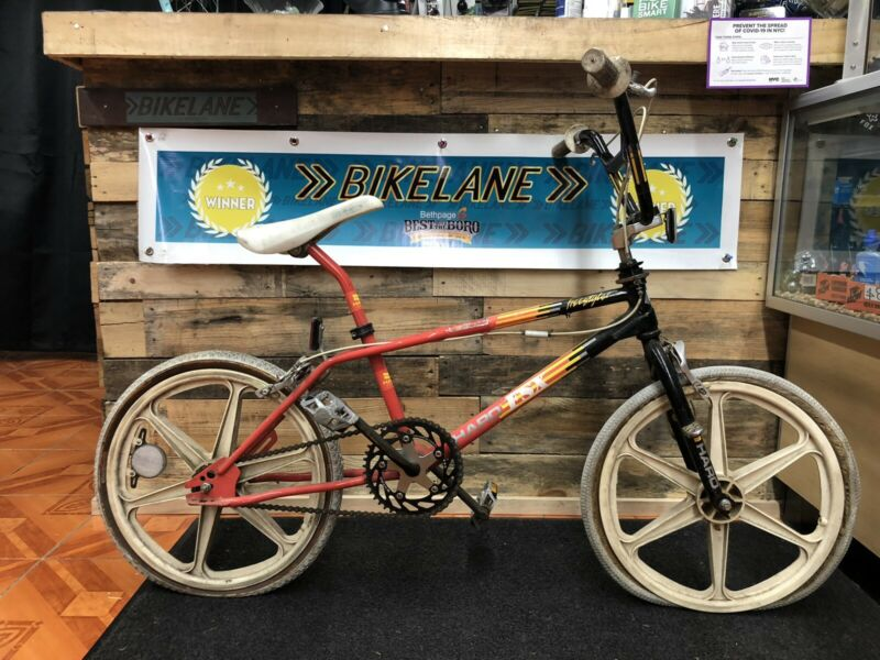 Coral and Black 1987 HARO FSX BMX Freestyler