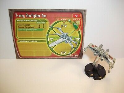 Star Wars Miniatures - X-wing Starfighter Ace 28/60 - Starship Battles
