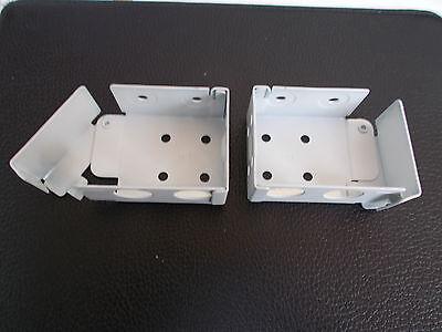 Madera Persiana Veneciana Metal Abrazaderas Para 38mm x 57mm Top Vía White...