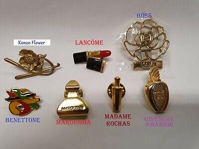 *Magnifique Lot de 7 Pins-Broches Grandes Marques-Kenzo Flower Très Rare !!!