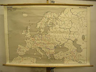 Schulwandkarte Wandkarte Europa Europe beschriftbar Karte 1zu5Mio 137x95cm map