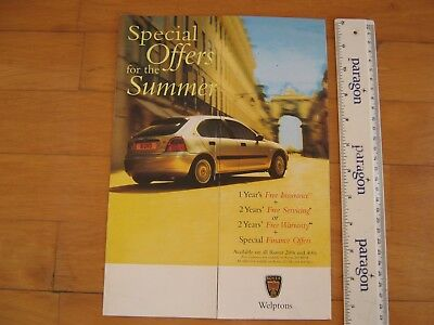 1999 ROVER 200 + 400 SPECIAL OFFER Colour Brochure + Prices. (New/Unused)