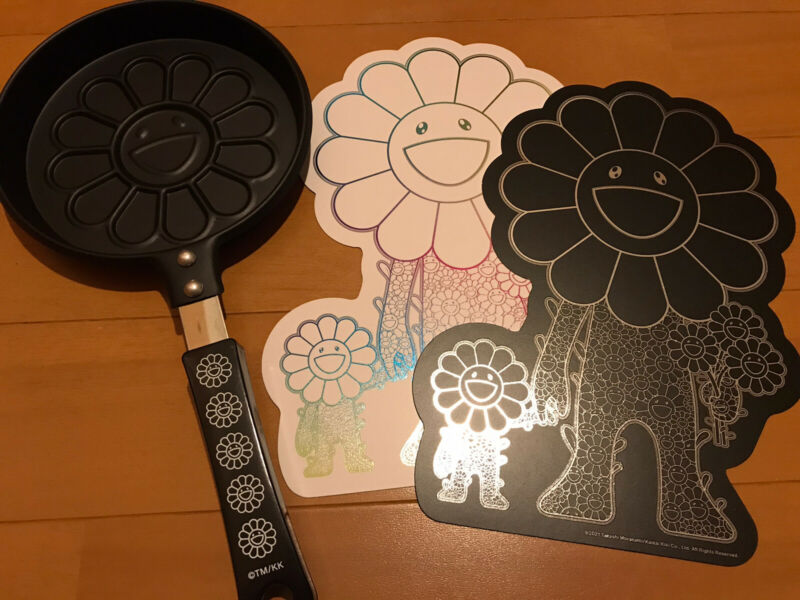 Takashi Murakami Flower Pancake Frying Pan Kaikai Kiki flower parent and child