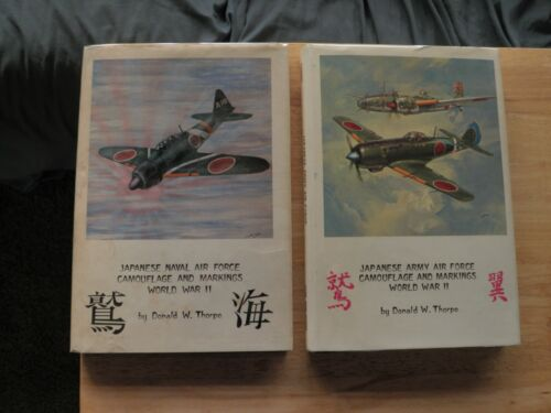 2 BOOK LOTJAPANESE NAVAL/ARMY AIR FORCE 1ST ED CAMOFLAGE/MARKINGS WW2 AERO PUB