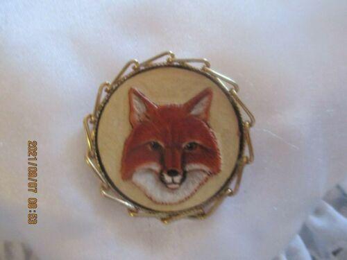RARE ANTIQUE FOX PIN- BROOCH OR PENDANT