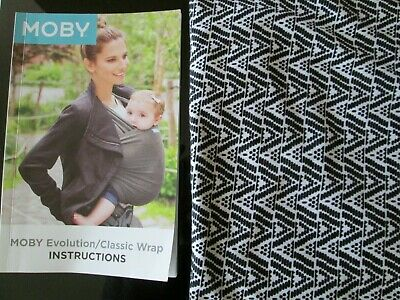 Moby Wrap Petunia Pickle Bottom Black And White Baby Wrap Carrier EUC !