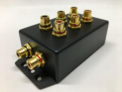 RCA Distribution Block Splitter Box Three Way Car Audio 3 Way FREE SHIPPING!! V2