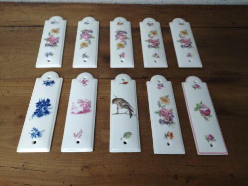 lot de 10 plaques DE propreté limosanit en porcelaine DE limoges Chapus frères