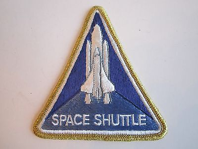 SPACE SHUTTLE PATCH - GOLD TRIM - UNUSED - 4 3/8