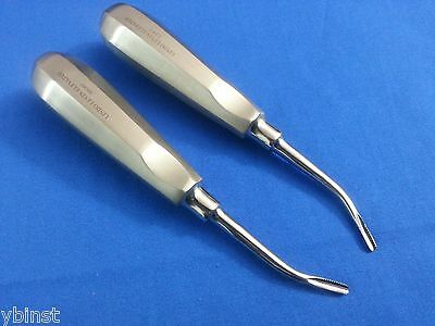 2 Pcs Right Left Dental Extracting Extraction Root Barbed Edge Serrated Elevator