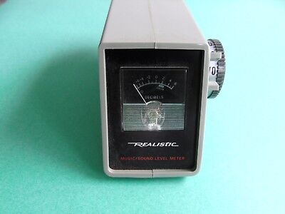 Realistic Music Sound Level Meter 11a3