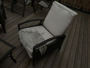 Patio set - reclining chairs.
