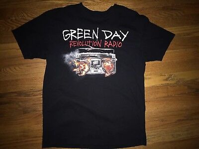 Green Day Revolution Radio T Shirt Large Preowned