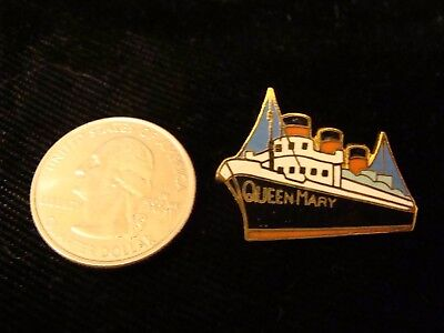 VINTAGE-RMS-QUEEN-MARY-ENAMEL-and-BRASS-Lapel Pin