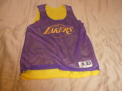 Augusta L.A.LAKERS # 20 Men's Small Reversible Practice Basketball Jersey NEW