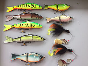 9 new custom musky pike fishing lures swimbaits spinnerbaits