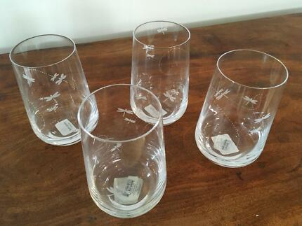 Kate Spade June Lane Hi-Ball Crystal glasses x 12 new (cost $828) & Kate Spade Crystal u0027Mru0027 u0026 u0027Mrsu0027 tumblers | Dinnerware | Gumtree ...