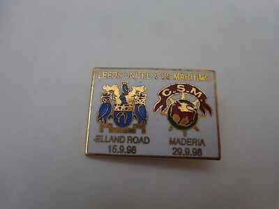 CLASSIC LEEDS UNITED V MARTIMO UEFA CUP 1ST ROUND 1998/1999 FOOTBALL BADGE