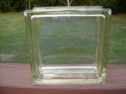 Rare - Vintage - Reclaimed Architectural Clear Glass Block - 8 x 8 x 4 - Clean