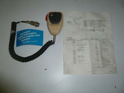 New Vintage Motorola Tmn6013a Red Button Two Way Radio Hand Microphone Ga307