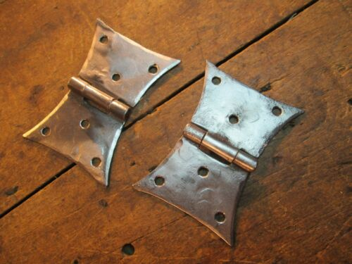 PAIR  HAND  FORGED  BUTTERFLY  DOOR  HINGES