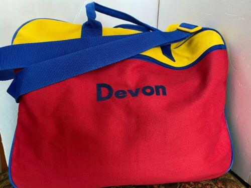 "Lillian Vernon Canvas Primary Personalized Suitcase Carryall ""Devon"""