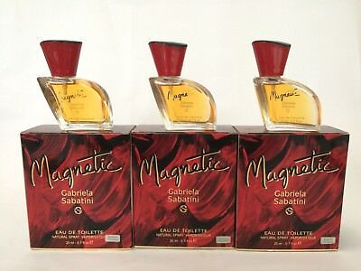 Gabriela Sabatini Magnetic Perfume 20mlx3 (60ml) Eau de Toilette Spray Vintage for sale  West Covina