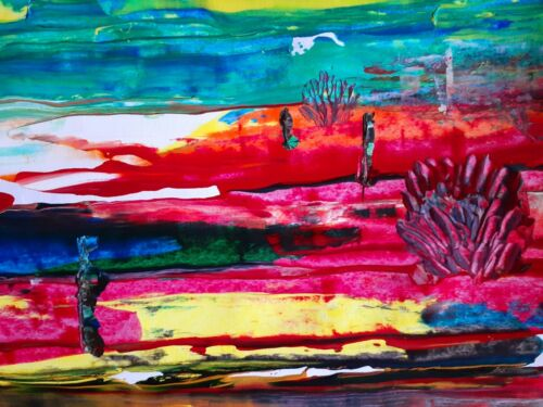 Original Landscape Painting Acrylic - $25.00