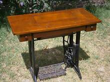 SINGER TREADLE SEWING MACHINE, WITH MOTOR, BEAUTIFUL CONDITION!! Newtown Geelong City Preview