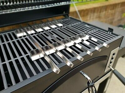 Stainless Steel BBQ Kebab Rack with 6 x skewer set in Nylon Pouch. L45 W 1 T 1.5