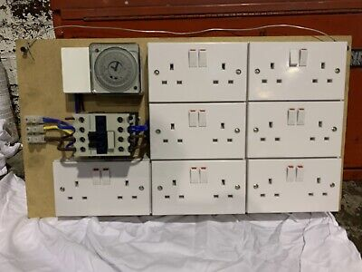 12 Way Contactor Boards 40amp Relay Timer For Grow Light Hydroponics- Grasslin