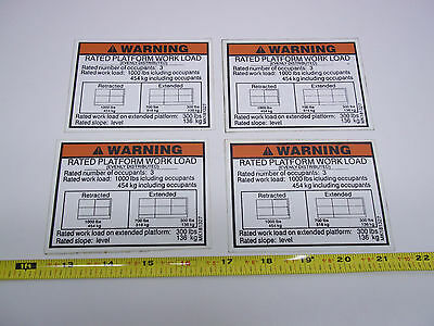 181327 Terex Forklift Decal - Rated Load Lot Of 4