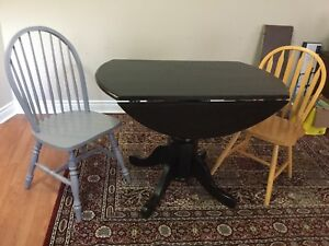 Delivery included. Solid wood dining table 3 chairs