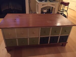 Colorful high quality coffee table