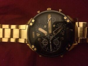 Two men's watches ones a diesal and the other a weite