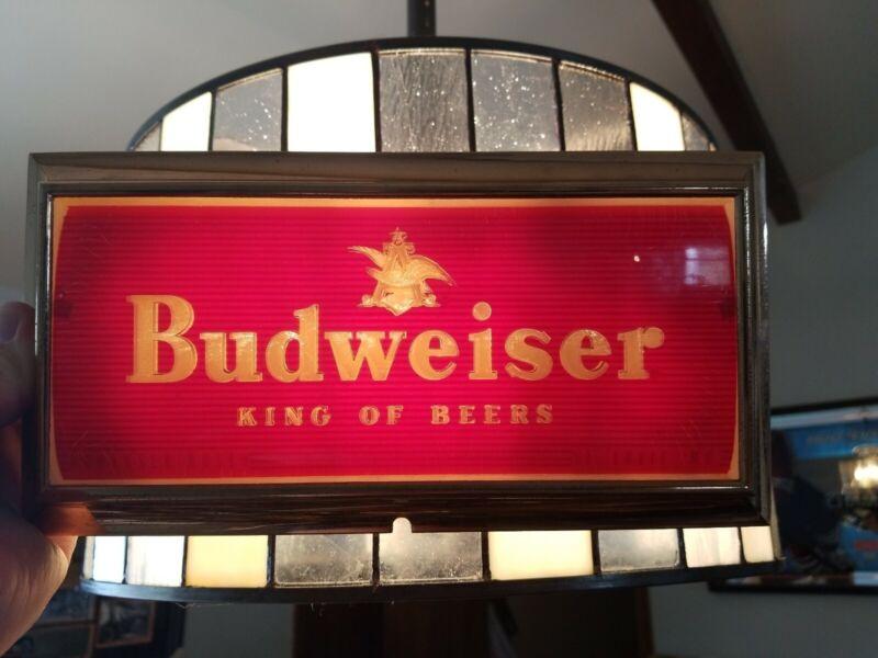 VTG 1950s Budweiser Beer light up Sign part anheuser Busch