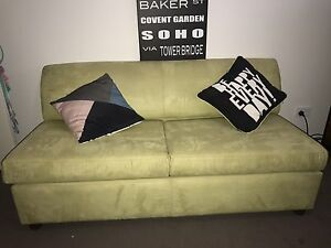 Suede sofa couch Karalee Ipswich City Preview