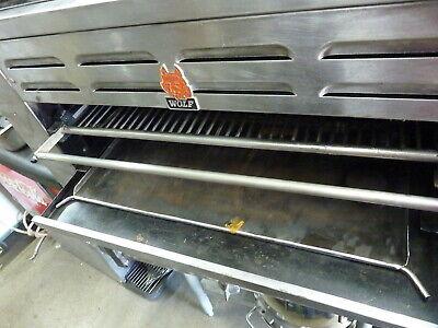 Wolf Salamander Gas Or Lp 36 Wide Adustable Shelfsteel Burners900 Items