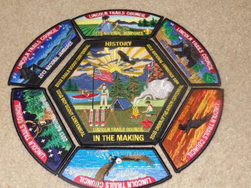 Boy Scout Lincoln Trails Illinois Council 2013 National Jamboree JSP Patch Set