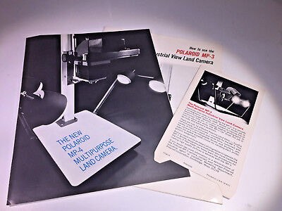 The sales brochure & manual for the Polaroid MP-4 instant system from the 1970s