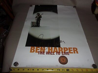 Ben Harper - The Will To Live - 1997 Promo Poster Signed!!!!!!