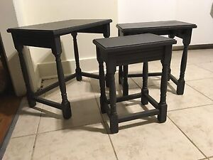 Solid Oak Stacking / Nesting Side Tables