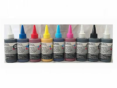 9x100ml Pigment Refill Ink For Epson R3000 R2880 R2400 Pr...