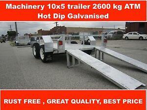 MACHINERY 10x5 trailer 2600KG GVM heavy Dandenong South Greater Dandenong Preview