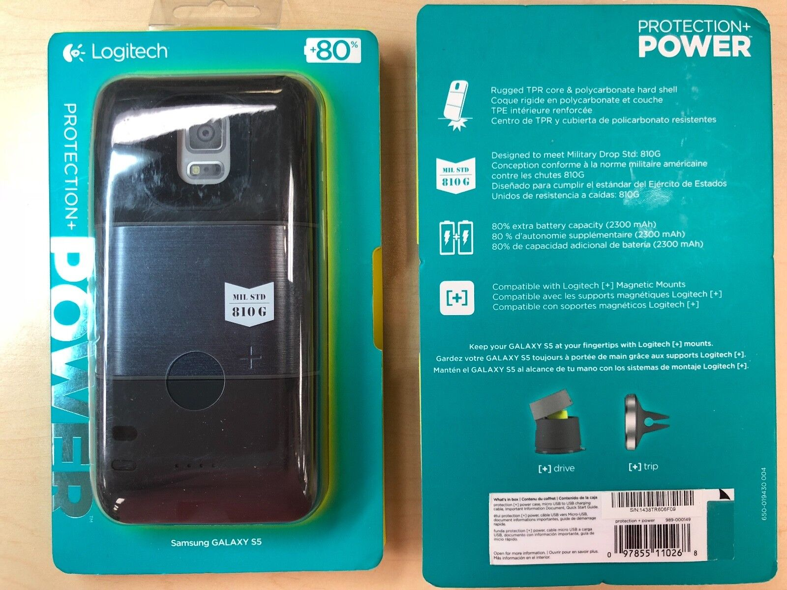 Logitech - Protection  Power External Battery Case For Samsu