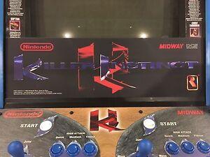 Killer Instinct Arcade Marquee Midway Translight Header Sign Backlit