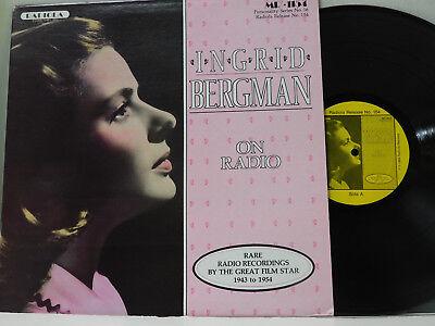 Ingrid Bergman LP On Radio - Rare Recordings 1943 - 1954   VG++ radio broadcast